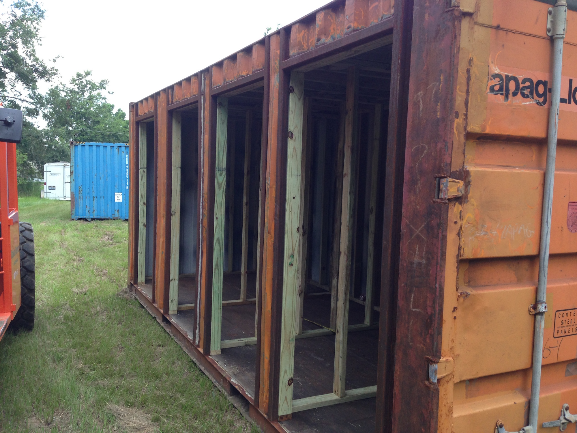 Shipping containers gulf coast welding inc - Shipping container end welding ...